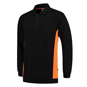 Sweat-shirt Tricorp TS2000 Bi-color, noir/orange, taille 4XL, la pièce