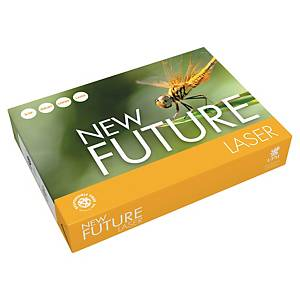 Papir til sort/hvit-utskrift New Future Lasertech A4, 80 g 5 x 500 ark