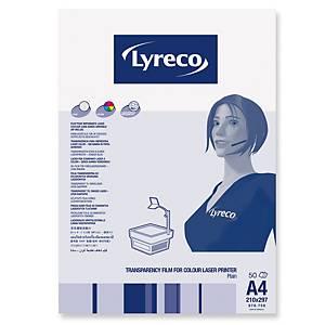 Lyreco värilaserkalvo A4 120mic, 1 kpl=50 kalvoa