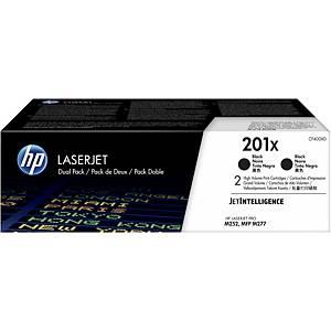 HP 201X 2-pack High Yield Black Original LaserJet Toner Cartridges (CF400XD)