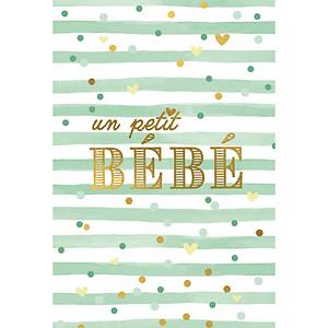 Greeting card birth baby french - pack of 6