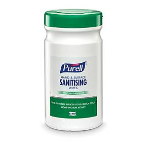 Purell Hand & Surface Sanitising Wipes - Tub of 200 Wipes