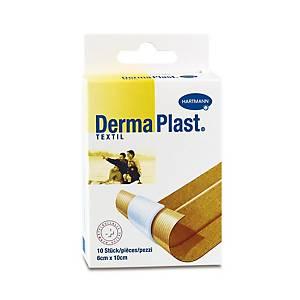 Pansement adhésif textile DermaPlast, 6 x 10 cm, couleur chair, 10unités