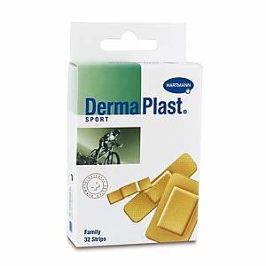 Pansement adhésif DermaPlast Sport Family, assort. 3 tailles, paq. 32unit.