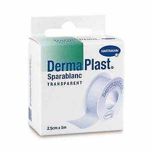 Sparablanc DermaPlast, 5mx2.5 cm, transparent