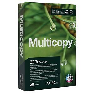 Carta da copia Multicopy Zero A4, 80 g/m2, bianco, confezione da 500 fogli