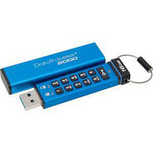Clé UBS Kingston DataTraveler 2000 - USB 3.0 - 16 Go - bleue