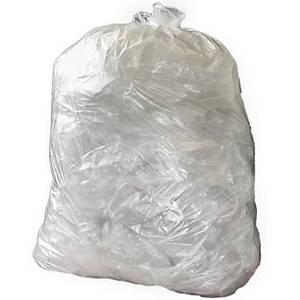 The Green Sack CHSA 10kg Clear Medium Duty Refuse Sack 29X38 Pack of 200