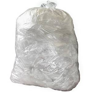 The Green Sack CHSA 10kg Clear Medium Duty Refuse Sack 29X38 Pack of 200