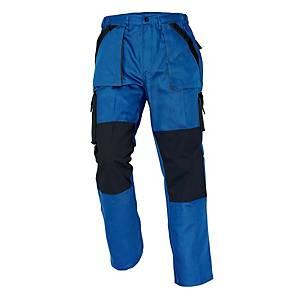 CERVA MAX férfi munkanadrág, méret 54, kék/fekete