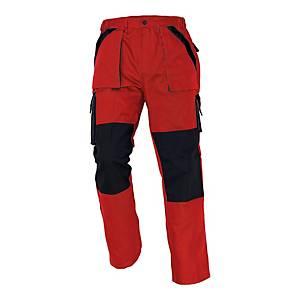Spodnie CERVA MAX CLASSIC, czerwono-czarne, rozmiar 56