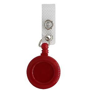 Porte-badge à enrouleur, Diamètre 32mm, Longueur 914mm, rouge, emb. à 25 Pièce