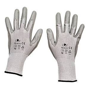 Rękawice antyprzecięciowe F&F HS-04-017, szare, rozmiar 8, para