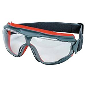3M GG501 full vision safety glasses, filter type 2C, grey/red, non-tinted
