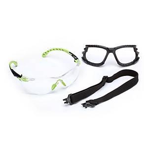 Schutzbrille Schaumrahmen u. Kopfband 3M S1201KT, Filtertyp 2C, Scheibe farblos