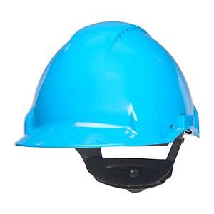 Casque de protection 3M G3000, en ABS, plage de réglage 54-62 cm, bleu