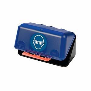 Aufbewahrungsbox für Schutzbrillen, B236xT120xH120 mm, blau