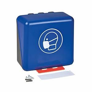 Boîte de rang. pour masques de prot. resp. ABS, L236×P125×H225 mm, bleue