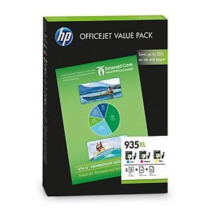 HP 935XL Office Value Pack Ink Cartridge Cyan, Magenta, Yellow