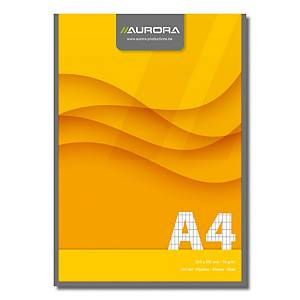 Aurora schrijfblok, A4, geruit 4 x 8 mm, 100 vellen