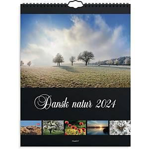 Vægkalender Mayland 0666 50, måned 2020, 29,5 x 39 cm, dansk natur