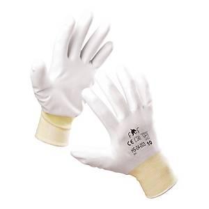 Rękawice F&F HS-04-003, białe, rozmiar 9, 60 par