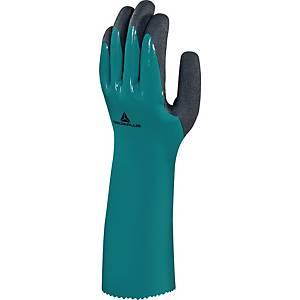 Deltaplus Chemsafe VV835 Green & Black Gloves Size 10
