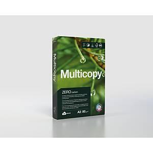 Carta bianca Multicopy Zero A3 80 g/mq - risma 500 fogli