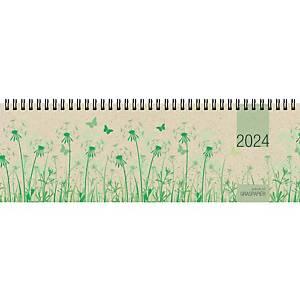 Tischquerkalender 2021 Zettler 159, 1 Woche / 2 Seiten, 32 x 11cm, mit Motiv