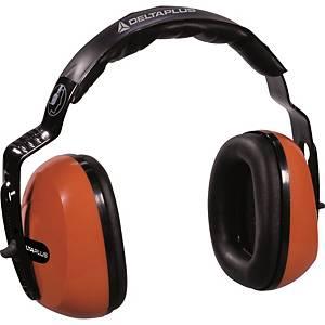 Deltaplus Sepang2 gehoorkap, SNR 26 dB, oranje/zwart