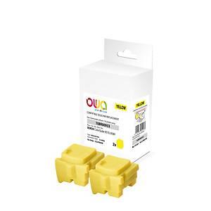 Encre solide Owa compatible équivalent Xerox 108R00933 - jaune - par 2