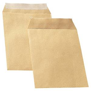 Bags 162x229mm peel and seal 90g brown - box of 500