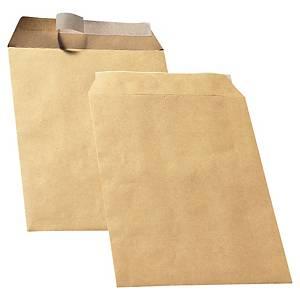 Akte-envelop, C4, siliconenstrook, bruin 90 g, 229 x 324 mm, per 250 zakomslagen