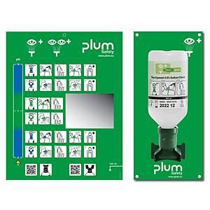 Wandstation mit Augenspülflasche Plum 4611, 500 ml, 170x300x80mm