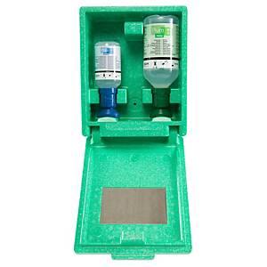 Augen-Notfallstation Wandbox Plum 4789, 1x200ml pH Neutral, 1x500ml Augenspüll.