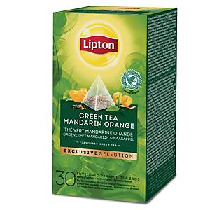 Lipton Exclusive Selection Green Tea Mandarin Orange thee, doos van 25 zakjes