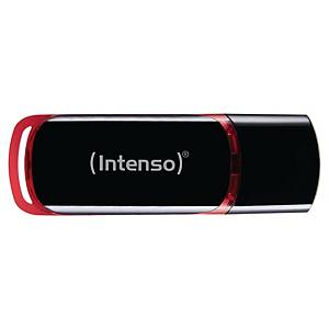 Clé USB Intenso Business Line - USB 2.0 - 16 Go - noir/rouge