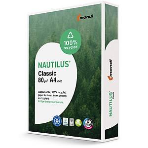 Papier pour photocopieur Nautilus Classic A4, 80 g/m2, blanc, pqt de 500 flles