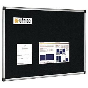 Anslagstavla Bi-Office Maya med aluminiumram, 90 x 120 cm, svart