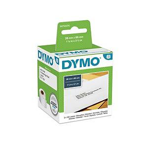 Dymo LW Address Labels, 28mm X 89mm, Roll of 130