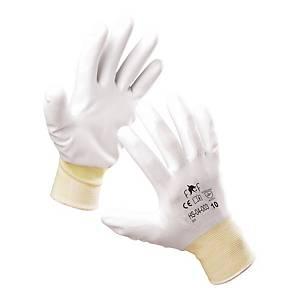 Rękawice F&F HS-04-003, białe, rozmiar 7, 12 par