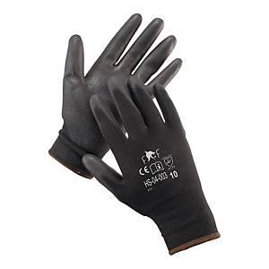 Rękawice F&F HS-04-003, czarne, rozmiar 7, 12 par