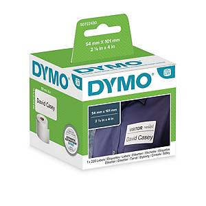 Dymo LW Large Shipping Labels/Name Badges, 54mm X 101mm, Roll of 220