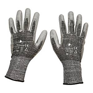 Rękawice antyprzecięciowe F&F HS-04-018, szare, rozmiar 11, para