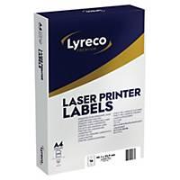 Lyreco Premium Laser Labels 99.1x33.9mm 16-Up White - Pack Of 250