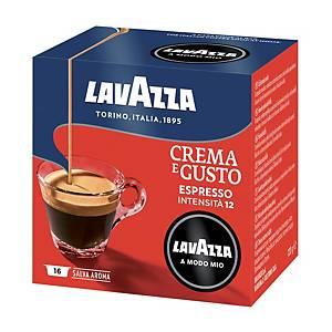 Caffè espresso Crema e Gusto Lavazza a Modo Mio in capsule - conf.16