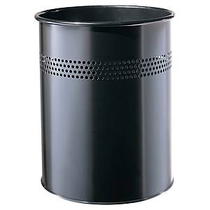 Waste bin metal 15 litres black