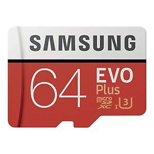 Karta pamięci SAMSUNG EVO+ 64GB microSD z adapterem