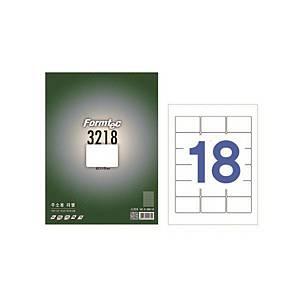 폼텍 바코드 라벨 LS-3218 18칸 100매