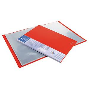 Exacompta Opaque PP Display Book, 24X32cm, 40 Pockets - Red